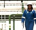 Woman engineer walking